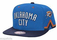 New NBA Mitchell & Ness Snapback Oklahoma City Thunder Blue Team Short 2 Tone