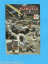 TOP985-PUBBLICITA'/ADVERTISING-1985- MB TOYS - ROBOTIX