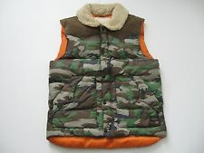 DENIM & SUPPLY RALPH LAUREN Men's Faux-Shearling Collar Camouflage Down Vest L