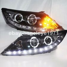 2009 to 2013 Year For KIA Sportage R LED Angel Eyes Front Lights Headlights LD
