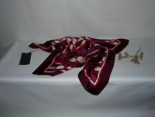 NWT  Gorgeous and Elegant ST. John Red 100% Silk Scarf Made in Italy