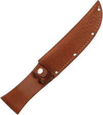 """BROWN LEATHER SHEATH FOR UP TO 6"""" STRAIGHT FIXED BLADE KNIFE, SH1135"""