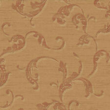 York Washed Trail Scroll Wallpaper in Golden Tan & Rust per Double Roll  BR6310