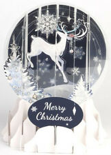 Reindeer Silhouette Snow Globe Pop Up - Up With Paper Christmas Card