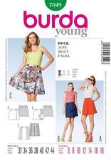 BURDA SEWING PATTERN LADIES short wrap-around skirts size  6-18 7049