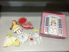 Vogue Ginny Doll Clothes Pink Cottage Carry Case Trunk w/Handle  #302079 1979