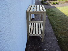 Wooden Greenhouse potting bench/Staging - Very Solid - 4ft - 2 Tier