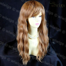 Beautiful Long Blonde mix Auburn Heat Resistant Hair Ladies Wigs from WIWIGS UK