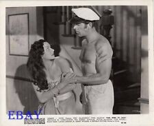 Fredv MacMurray barechested VINTAGE Photo Vera Ralston Fair Wind To Java