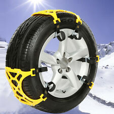 Car Truck Off-Road SUV Safe Snow Tire Wheel Chain Anti-skid Universal Yellow