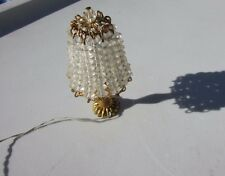 Vintage Dollhouse Artist Crystal Lamp Ornate Light Electric Tucker Gorgeous
