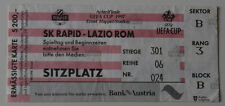 Ticket for collectors EC Rapid Wien Lazio Roma 1997 Austria Italy