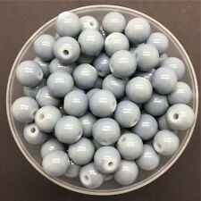 Wholesale 4mm 100 PCS Gray Glass Round Pearl Spacer Loose Beads Jewelry Making