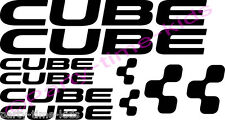 CUBE Mountain Bike Frame Vinyl Decals Stickers MTB Downhill Choice of 21 colours