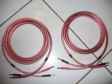 JSC Pro Sound 12awg Speaker Cables Pioneer JBL Banana Jacks Made In USA 6ft Pair