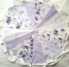 20ft/6m  LILAC FLORAL BUNTING. WEDDINGS vintage shabby chic handmade Lilac.