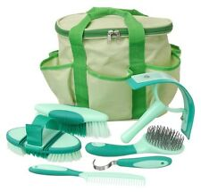 """Tough 1 light green """"Great Grips"""" premium 6 piece grooming kit horse tack equine"""