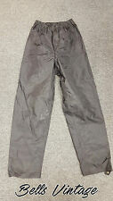 B374 Belstaff Waterproof PVC Nylon Biker Motorcycle Pants, XL 34W x 34L