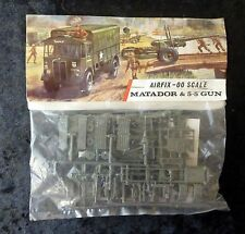 "Airfix WW2 Matador & 5.5"" Gun 00 Scale Model Kit Red Stripe Bag"
