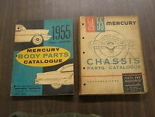 OEM Ford 1955 Mercury Master Parts Books Body + Chassis Monterey Montclair 1954