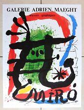 MIRO JOAN OEUVRES GRAPHIQUES ADRIEN MAEGHT AFFICHE LITHOGRAPHIQUE ARTE PARIS