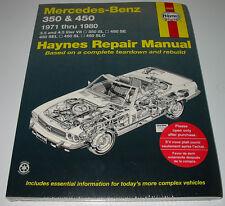 Repair Manual Mercedes R 107 V8 SL 350 SL 450 SE SEL SLC 1971 - 1980 NEU!