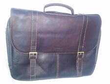 SAMSONITE Leather Messenger Bag - Flap-Over Laptop - Store Display ($340 Retail)