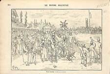 Course hippique CARICATURE HUMOUR PAR DESSIN CRAFTY Victor Eugène Géruzez 1873