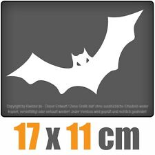 Batman-Fledermaus 17 x 11 cm JDM Decal Sticker Aufkleber Weiß, Scheibenaufkleber