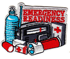 """""""EMERGENCY READINESS"""" IRON ON PATCH - First Aid Supplies, Red Cross, Bandages"""