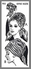 Vintage Mail Order Hat Turban Scarf Fabric Material sewing pattern #911