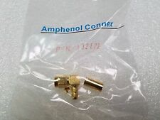 Amphenol 132122 SMA R/A Crimp Connector Plug, Male Pin 50 Ohm 58U Cable GOLD
