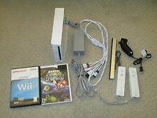 Nintendo Wii Console BUNDLE with Homebrew Channel, SD Card, Controllers, & Games