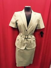 JOHN MEYER SKIRT SUIT/NEW WITH TAG/RETAIL$199/SIZE 10//COTTON/LINED/SAFARI