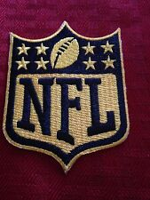 NFL Logo 50th Ann. Gold Patch Shield Crest Badge Iron On Sew On Shirt *Pre Order