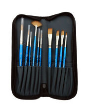 Winsor & Newton Cotman Watercolour Zip Brush Wallet Set containing 10 brushes