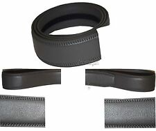 Men's Leather belt strap Automatic sliding buckle Auto-lock Strap only UP to 50""