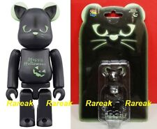 Medicom Be@rbrick 2016 Halloween 100% Black Cat GID Green Bearbrick 1pc