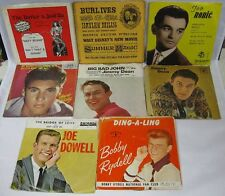 Lot of 8 45 Records Marici Ives Dean Rydell Dowell Nelson W/Picture Sleeve