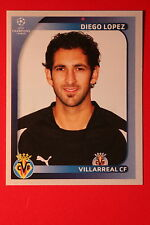 PANINI CHAMPIONS LEAGUE 2008/09 # 520 VILLAREAL CF LOPEZ BLACK BACK MINT!
