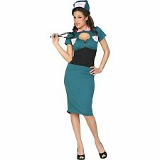 "Women "" NIGHT NURSE NORA "" Halloween Costume Retro Doctor Size XS Cinema Secrets"