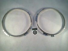 Bearmach Land Rover Defender & Series Headlight Headlamp Bezels Stainless Steel