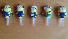 5 x Super Despicable Me Minions Anti Dust Plugs for Cell Phones NEW
