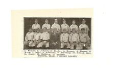 Wichita Jobbers 1909 Team Pict Skipper Roberts Tex Wisterzil Raleigh Aitchison