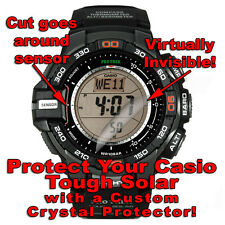 CASIO Tough Solar Zagg Crystal protector/anti scratch/protection/ set of 2