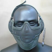 New Outdoor Paintball CS Airsoft Strike Metal Mesh Half Face Ear Protection Mask