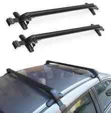 UNIVERSAL ANTI THEFT CAR ROOF BARS CARS WITHOUT RAILS Lockable Bars Rack W/ KEYS