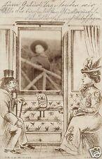 10732/ Glückwunschkarte zum Geburtstag, Eisenbahnwagon, 1905