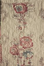 French 1700's 18th century block print quilted textile