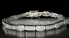 """Lady's Tennis Bracelet 5mm Silver Tone in Brass Micro Pave Set Cubic Bling 7"""""""